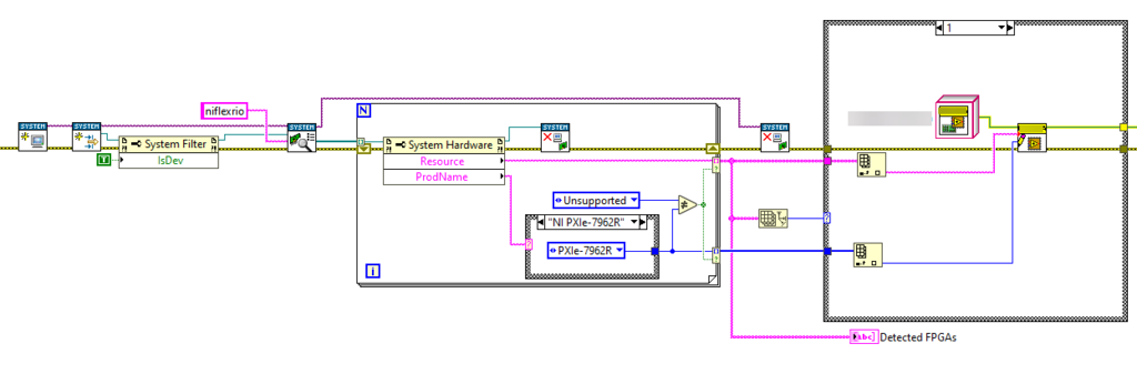 LabVIEW Code of FlexRIO Detection